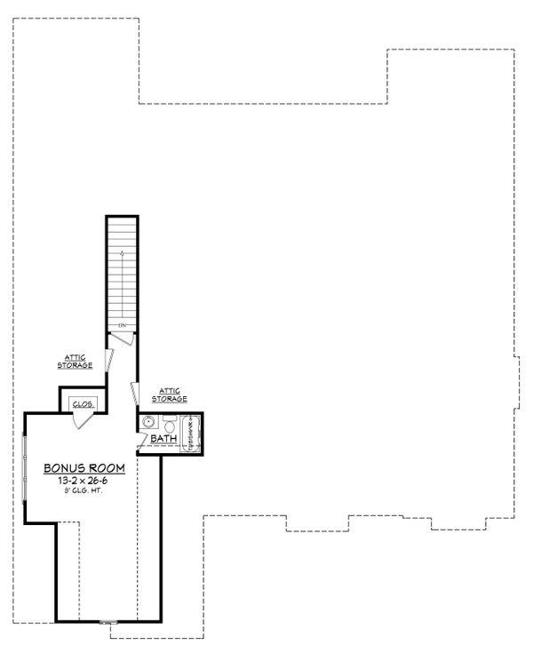 Craftsman Style House Plan - 3 Beds 2.5 Baths 2597 Sq/Ft Plan #430-148 Floor Plan - Upper Floor Plan