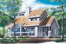 Exterior - Front Elevation Plan #23-513