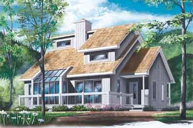 Exterior - Front Elevation Plan #23-513