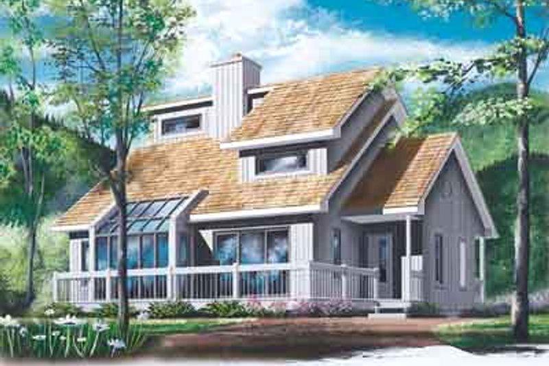 Exterior - Front Elevation Plan #23-513 - Houseplans.com
