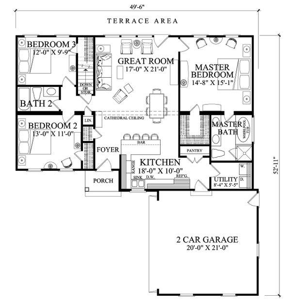 Ranch Floor Plan - Main Floor Plan Plan #137-269