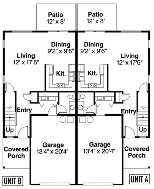 Traditional Floor Plan - Main Floor Plan Plan #124-816