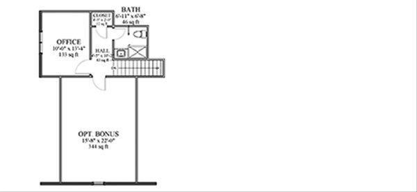 Cottage Floor Plan - Upper Floor Plan Plan #898-43
