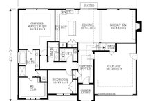House Plan Design - European Exterior - Rear Elevation Plan #53-622