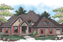 Home Plan - European Exterior - Front Elevation Plan #70-960