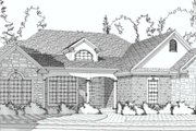Traditional Style House Plan - 5 Beds 3 Baths 3503 Sq/Ft Plan #63-193 Exterior - Front Elevation