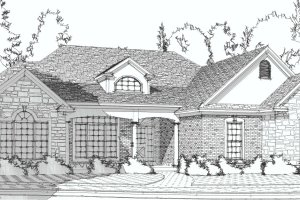Traditional Exterior - Front Elevation Plan #63-193