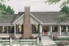 Dream House Plan - Country Exterior - Front Elevation Plan #406-247