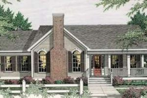Country Exterior - Front Elevation Plan #406-247