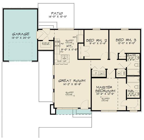 Contemporary Floor Plan - Main Floor Plan #923-166