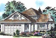 House Blueprint - European Exterior - Front Elevation Plan #18-219