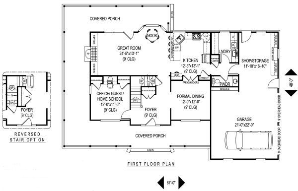 Architectural House Design - Country Floor Plan - Main Floor Plan #11-219
