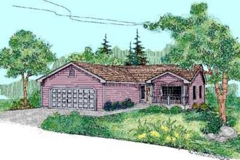 Traditional Exterior - Front Elevation Plan #60-464 - Houseplans.com