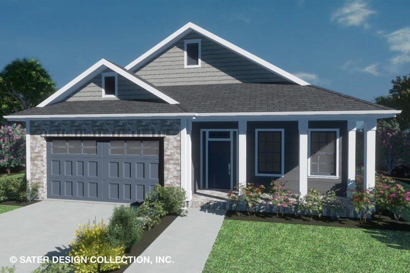 Home Plan - Country Exterior - Front Elevation Plan #930-514