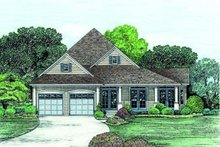 Home Plan Design - Traditional Exterior - Front Elevation Plan #20-769