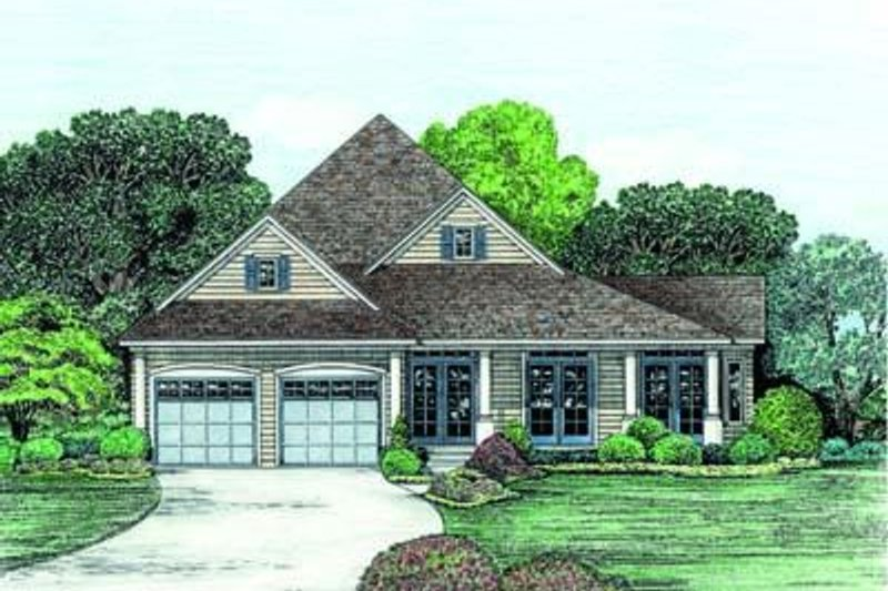 Traditional Exterior - Front Elevation Plan #20-769 - Houseplans.com
