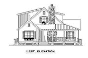 Country Style House Plan - 4 Beds 2 Baths 1472 Sq/Ft Plan #17-2017 Exterior - Other Elevation