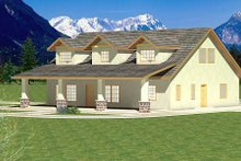 Home Plan - Traditional Exterior - Rear Elevation Plan #117-566