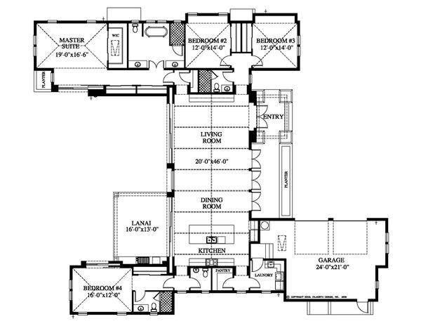 Beach Floor Plan - Main Floor Plan Plan #426-13