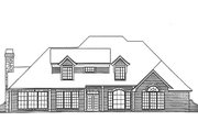European Style House Plan - 4 Beds 3.5 Baths 3082 Sq/Ft Plan #310-916 Exterior - Rear Elevation