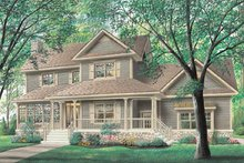 Home Plan Design - Farmhouse Exterior - Other Elevation Plan #23-293