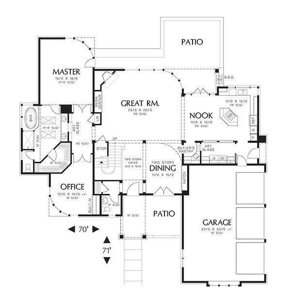 3200 square foot 3 bedroom 3 and half contemporary house plan
