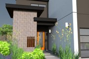 Modern Style House Plan - 3 Beds 4 Baths 3611 Sq/Ft Plan #449-7 Exterior - Covered Porch