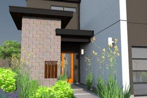 Modern Exterior - Covered Porch Plan #449-7