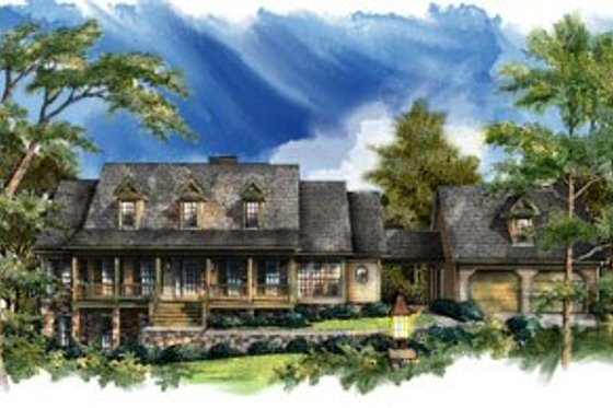 Country Exterior - Front Elevation Plan #71-113