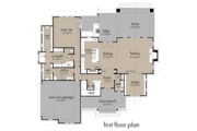 Farmhouse Style House Plan - 4 Beds 3.5 Baths 2828 Sq/Ft Plan #120-258 Floor Plan - Main Floor Plan