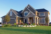 European Style House Plan - 3 Beds 2.5 Baths 3015 Sq/Ft Plan #51-440 Exterior - Front Elevation