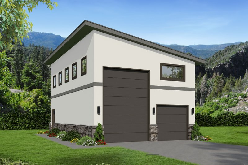 Home Plan - Contemporary Exterior - Front Elevation Plan #932-70
