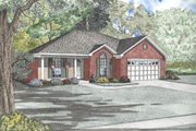 Traditional Style House Plan - 3 Beds 2 Baths 1214 Sq/Ft Plan #17-2128 Exterior - Front Elevation