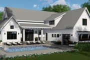 Farmhouse Style House Plan - 4 Beds 4.5 Baths 2886 Sq/Ft Plan #51-1132 Exterior - Rear Elevation