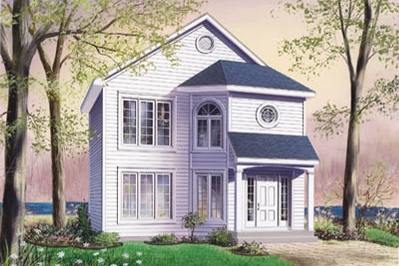 Home Plan - Traditional Exterior - Front Elevation Plan #23-271