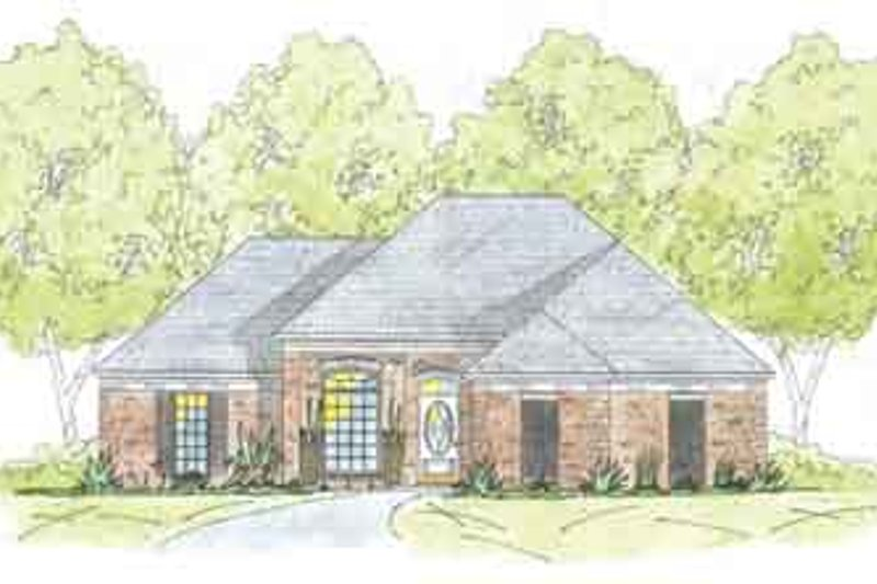Southern Exterior - Front Elevation Plan #36-424