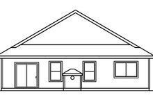 House Design - Traditional Exterior - Rear Elevation Plan #124-358
