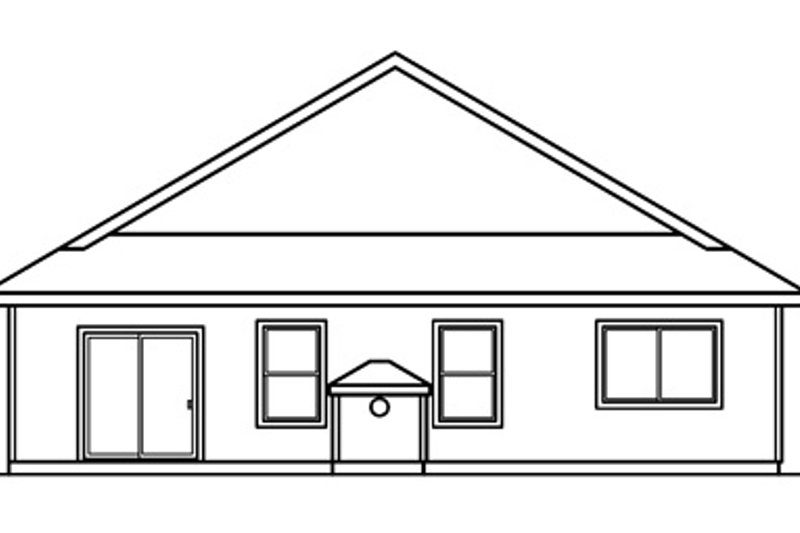 Traditional Exterior - Rear Elevation Plan #124-358 - Houseplans.com