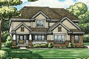 Traditional Style House Plan - 4 Beds 2.5 Baths 2255 Sq/Ft Plan #20-2095 Exterior - Other Elevation