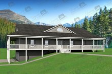 Country Exterior - Covered Porch Plan #932-175