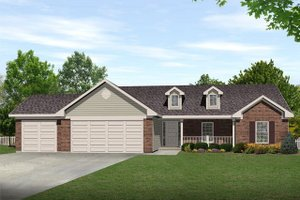 House Plan Design - Ranch Exterior - Front Elevation Plan #22-468