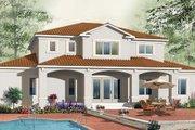 Mediterranean Style House Plan - 6 Beds 4.5 Baths 3016 Sq/Ft Plan #23-284 Exterior - Rear Elevation