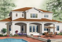 Dream House Plan - Mediterranean Exterior - Rear Elevation Plan #23-284