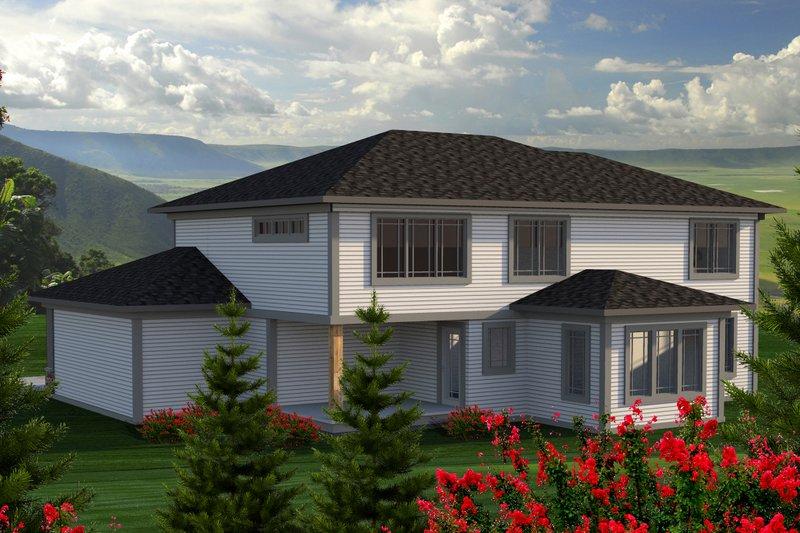 Prairie Exterior - Rear Elevation Plan #70-1178 - Houseplans.com