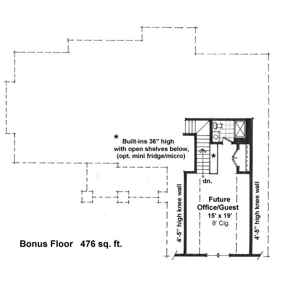 Craftsman Floor Plan - Upper Floor Plan Plan #51-521