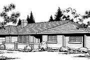 Traditional Style House Plan - 3 Beds 2 Baths 1293 Sq/Ft Plan #85-103 Exterior - Front Elevation