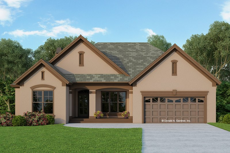 House Design - Ranch Exterior - Front Elevation Plan #929-592