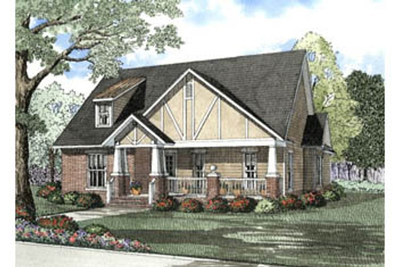 Dream House Plan - Tudor Exterior - Front Elevation Plan #17-1150