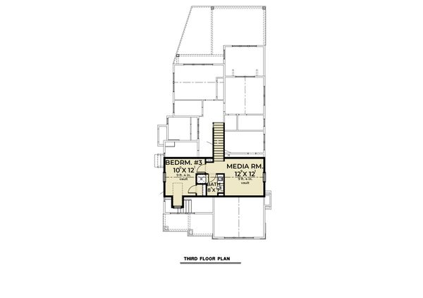 Farmhouse Floor Plan - Lower Floor Plan #1070-112