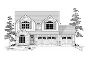 Craftsman Style House Plan - 4 Beds 2.5 Baths 2679 Sq/Ft Plan #53-554 Exterior - Front Elevation